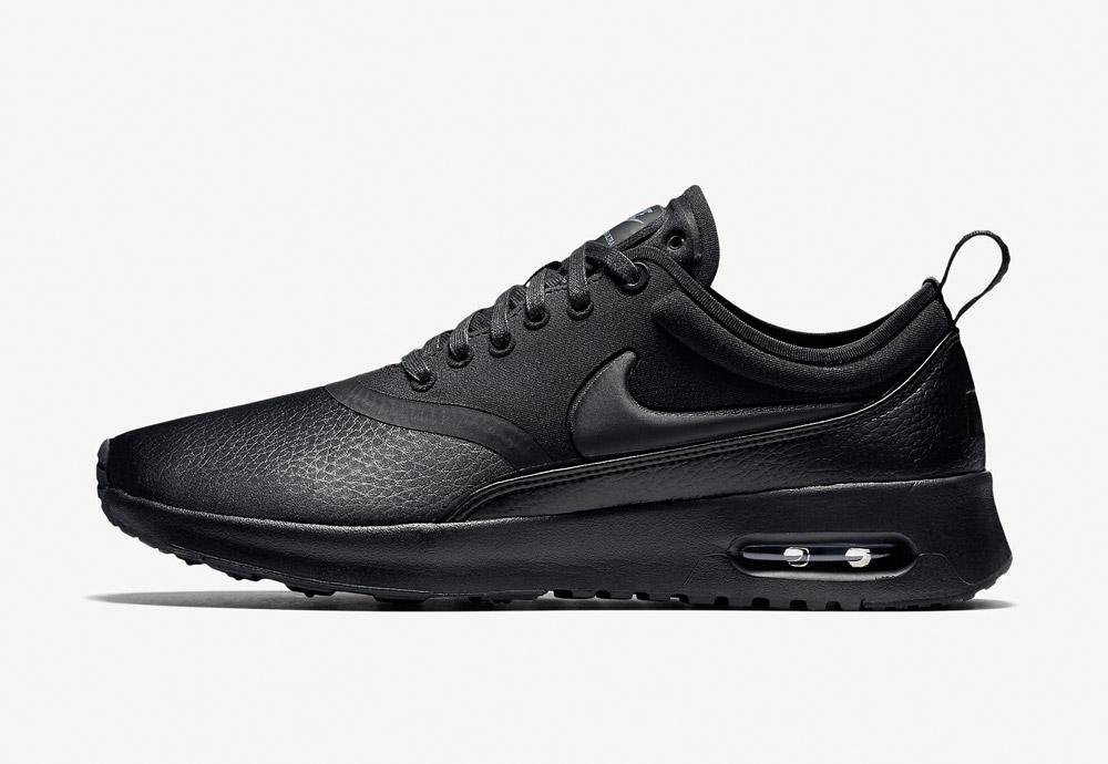 Nike Air Max Thea Ultra Premium — dámské boty — tenisky — sneakers — kožené — černé