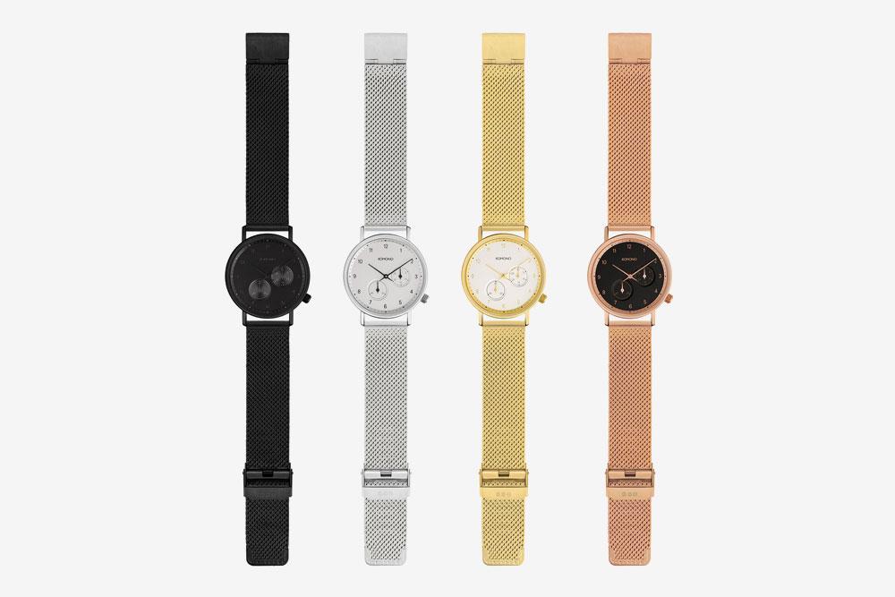 Komono Walther — hodinky — náramkové — ocelové pouzdro, ocelový náramek