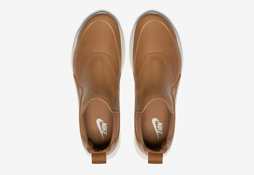 Nike Air Max Thea Mid — dámské kotníkové boty — hnědé, béžové, pískové — horní pohled — hnědé, béžové, pískové
