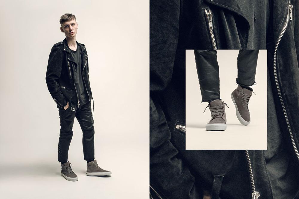CU4TRO — pánské — vysoké sneakers — Norris — kotníkové boty — semišové — hnědé, hnědo-šedé — lookbook