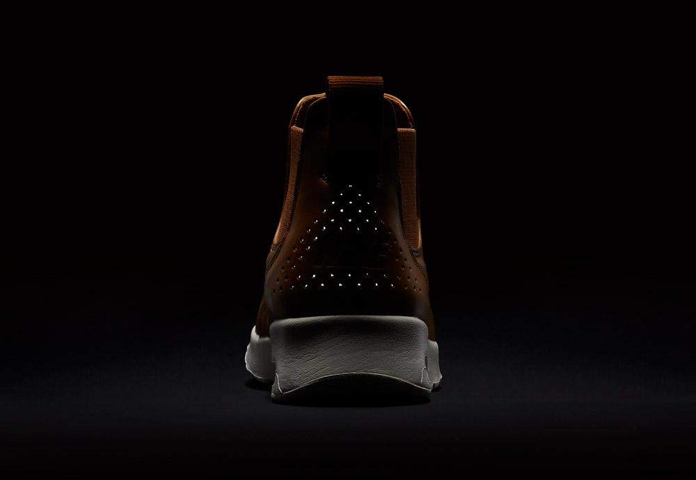 Nike Air Max Thea Mid — dámské kotníkové boty — hnědé, béžové, pískové — reflexní prvky — hnědé, béžové, pískové