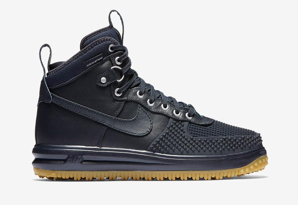 Nike Lunar Force 1 Duckboot — vysoké zimní boty — pánské — kotníkové, sportovní — tmavě modré