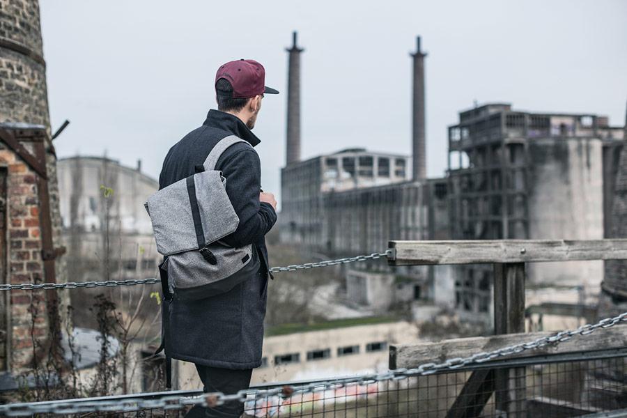 Iriedaily — šedý batoh — městský, urban — podzim/zima 2016