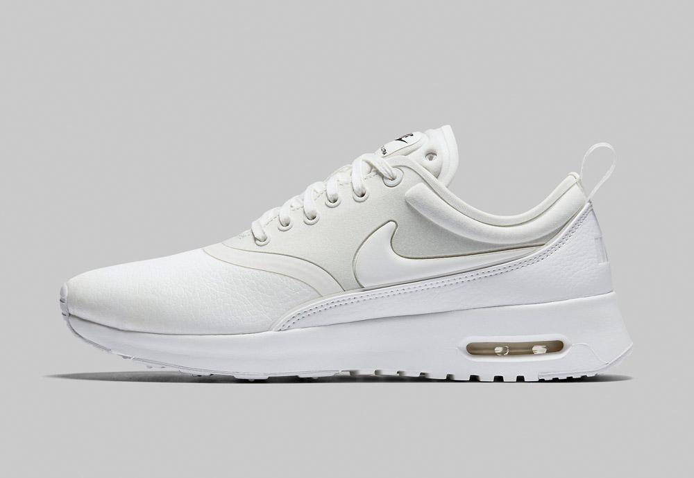 Nike Air Max Thea Ultra Premium — dámské boty — tenisky — sneakers — kožené — bílé