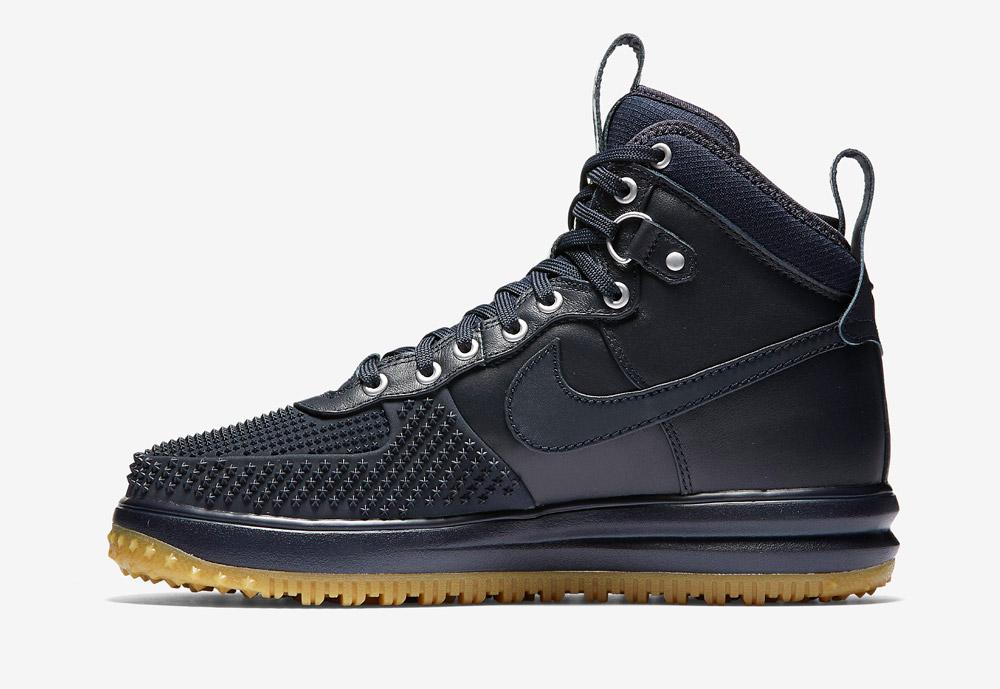 Nike Lunar Force 1 Duckboot — zimní boty — pánské — vysoké, kotníkové, sportovní — tmavě modré