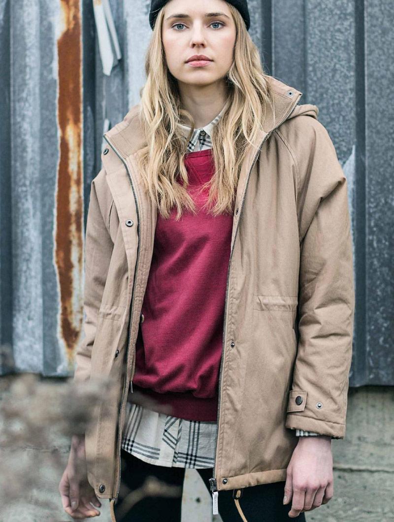 Iriedaily — dámská béžová parka — bunda s kapucí — podzim/zima 2016