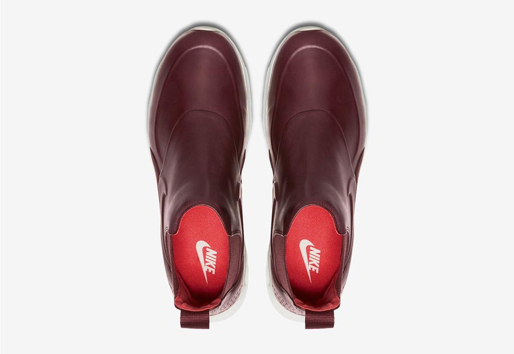 Nike Air Max Thea Mid — dámské kotníkové boty — vínové, tmavě červené — horní pohled — vínové, tmavě červené