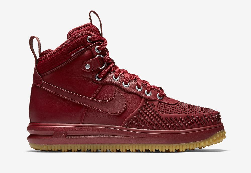 Nike Lunar Force 1 Duckboot — vysoké zimní boty — pánské — kotníkové, sportovní — červené