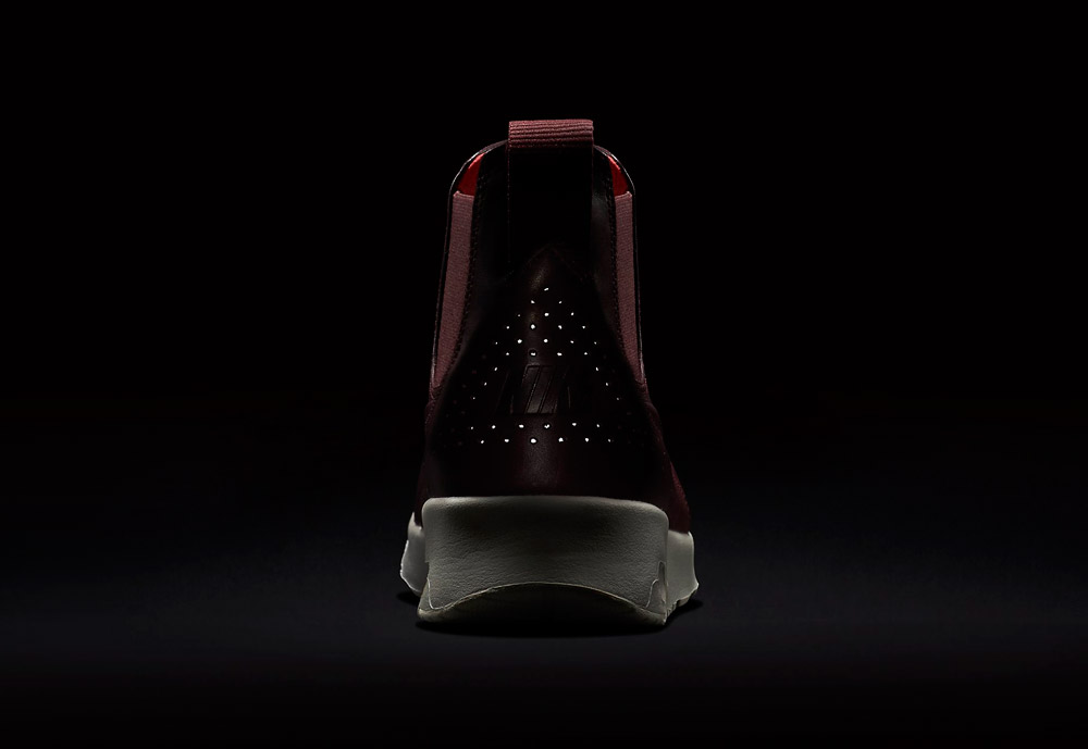Nike Air Max Thea Mid — dámské kotníkové boty — vínové, tmavě červené — reflexní prvky — vínové, tmavě červené