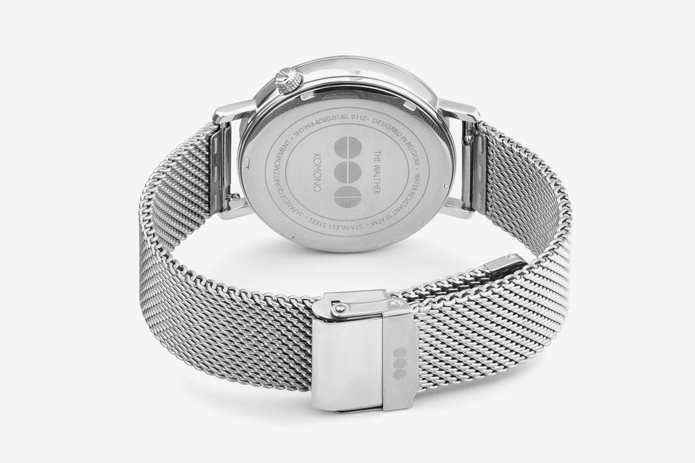 Komono Walther — hodinky — náramkové — ocelové pouzdro, ocelový náramek — zadní pohled