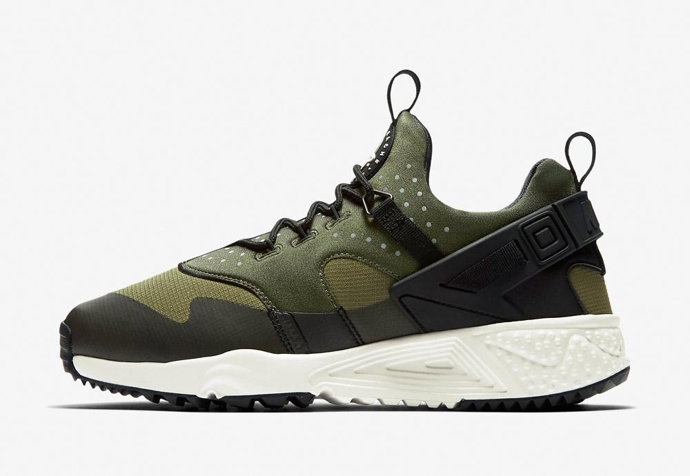 Nike Air Huarache Utility — pánské — zelené, šedé, černé
