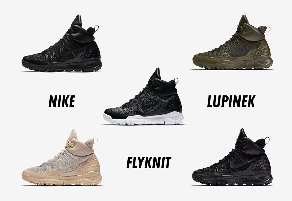 Nike Lupinek Flyknit — zimní boty — kotníkové — sneakers — pánské, dámské