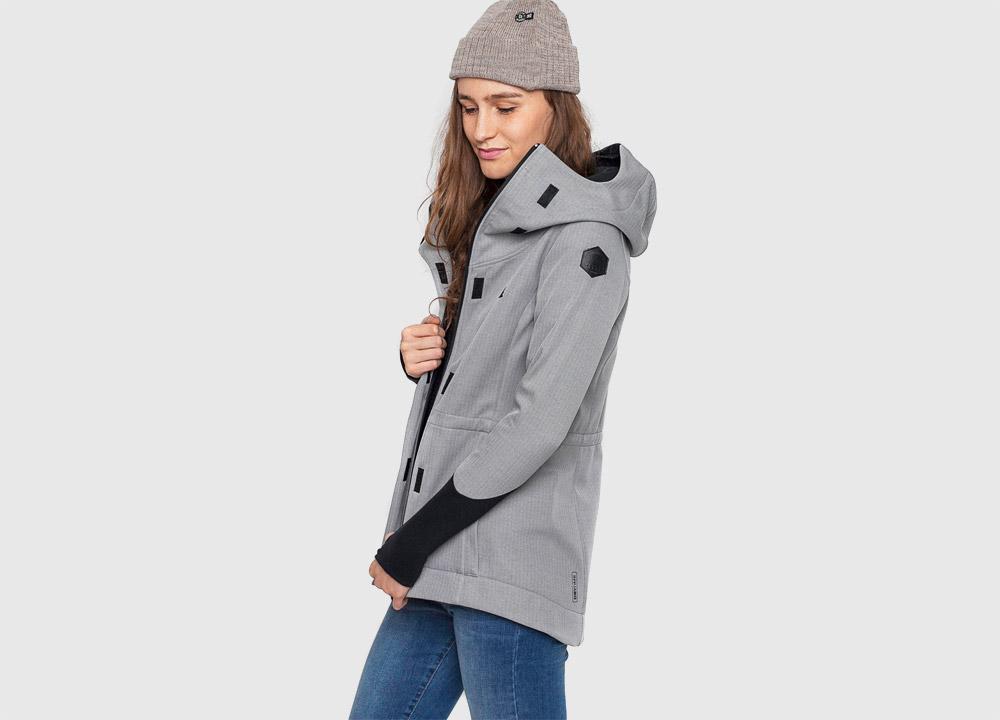 Pinetime — softshellová bunda s kapucí — dámská — šedá — Southsider