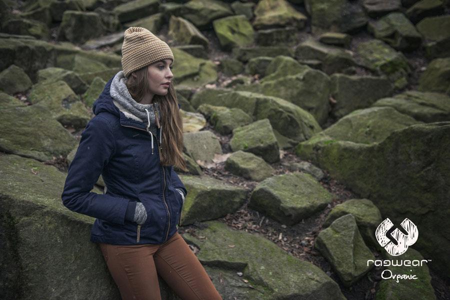 Ragwear — dámská podzimní kratší bunda s kapucí — modrá — podzim/zima 2016