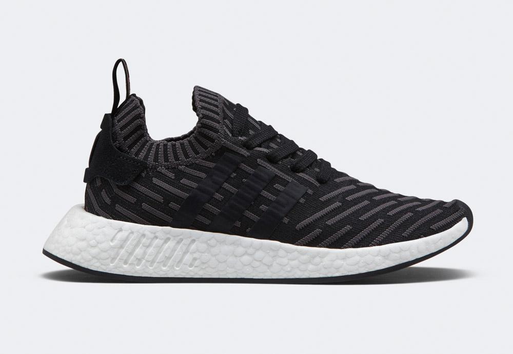 adidas Originals NMD_R2 — boty — tenisky — sneakers — černé, šedo-černé — army green