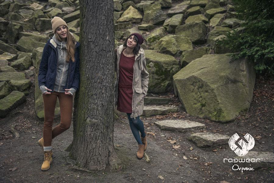 Ragwear — dámská dlouhá parka s kapucí, šedo-béžová — dámská modrá bunda, podzimní — podzim/zima 2016