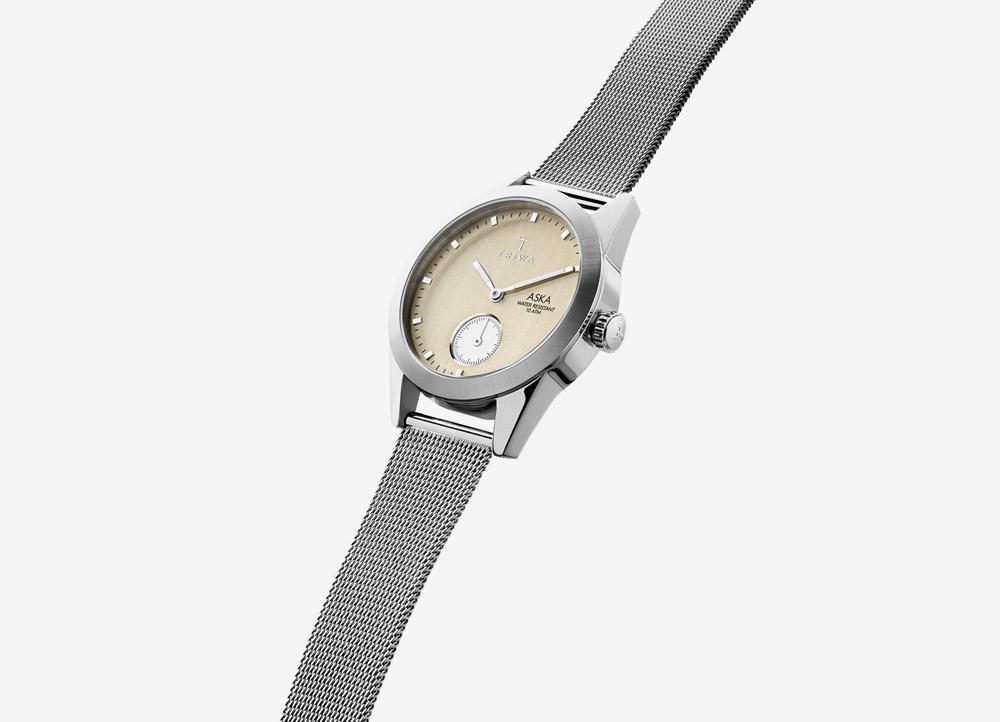 4ae249ae55f Triwa Aska — Birch — dámské hodinky — náramkové — ručičkové — ocelové —  stříbrné —