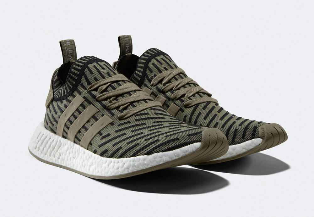 adidas Originals NMD_R2 — boty — tenisky — sneakers — zelené — army green