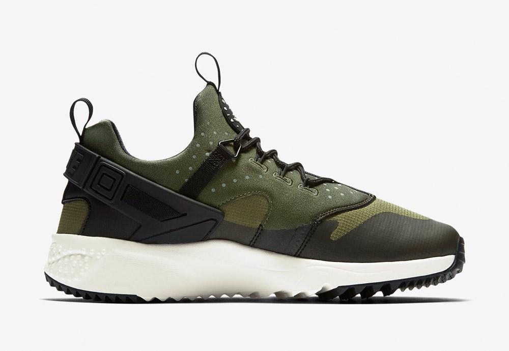 Nike Air Huarache Utility — pánské boty — tenisky — sneakers — zelené, olivové, army green