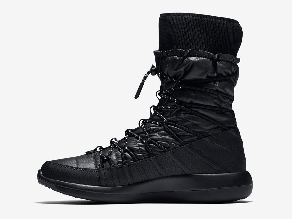 Nike Roshe Two High — dámské sněhule — vysoké zimní boty — černé