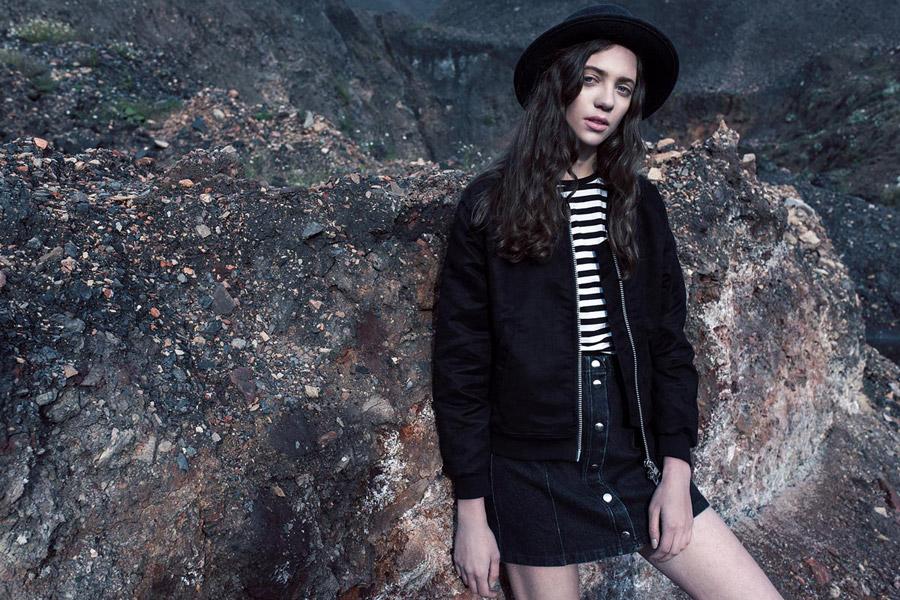 The Hive — černý dámský bomber — krátká bunda do pasu — bomber jacket — dámské oblečení — podzim/zima 2016