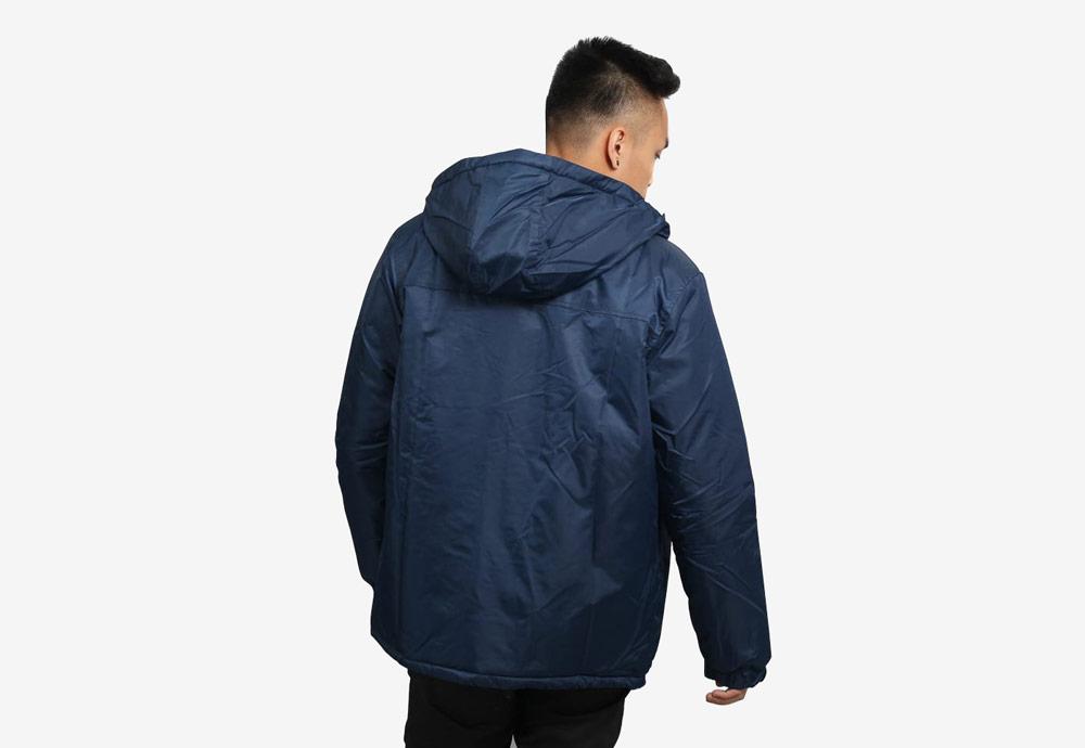 Daily Paper — pánská zimní bunda s kapucí — modrá, navy — Puffer Jacket