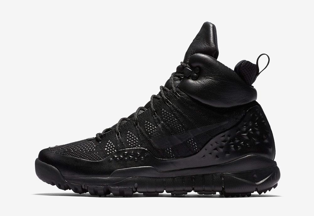 Nike Lupinek Flyknit — zimní boty — kotníkové — sneakers — černé — pánské