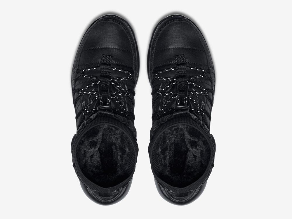 Nike Roshe Two High — dámské sněhule — vysoké zimní boty — černé — horní pohled