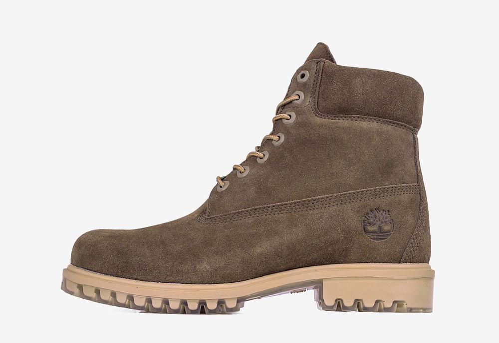 """Timberland 6"""" Premium — zimní boty — pánské — šedo-zelené — boots"""
