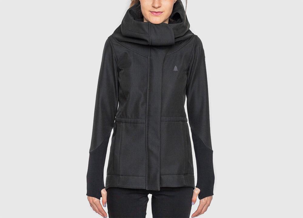 Pinetime — dámská softshellová bunda s kapucí — dámská — černá — Southsider