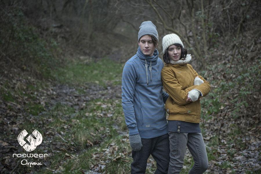 Ragwear — pánská modrá mikina s límcem a kapucí — dámská podzimní bunda, hořčicová — hořčicová — podzim/zima 2016