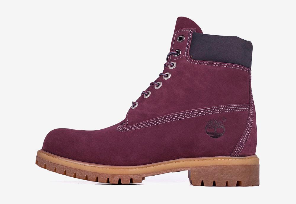 """Timberland 6"""" Premium — zimní boty — pánské — vínové, tmavě červené — boots"""