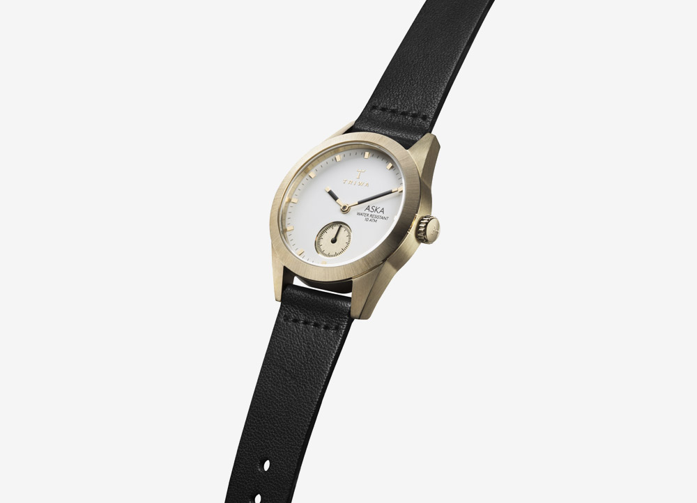 Triwa Aska — Ash — dámské hodinky — náramkové — ručičkové — ocelové — zlaté — šedý ciferník