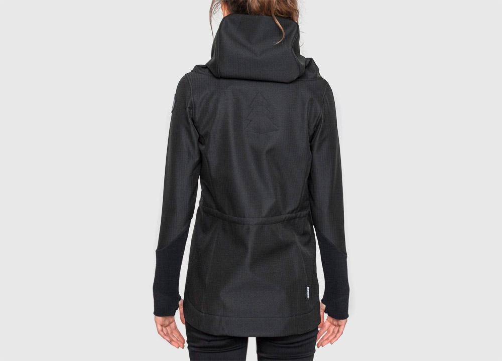 Pinetime — softshellová bunda s kapucí — dámská — černá — Southsider