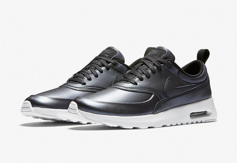 Nike Air Max Thea SE — dámské boty — tenisky — sneakers — metalické — tmavě šedé