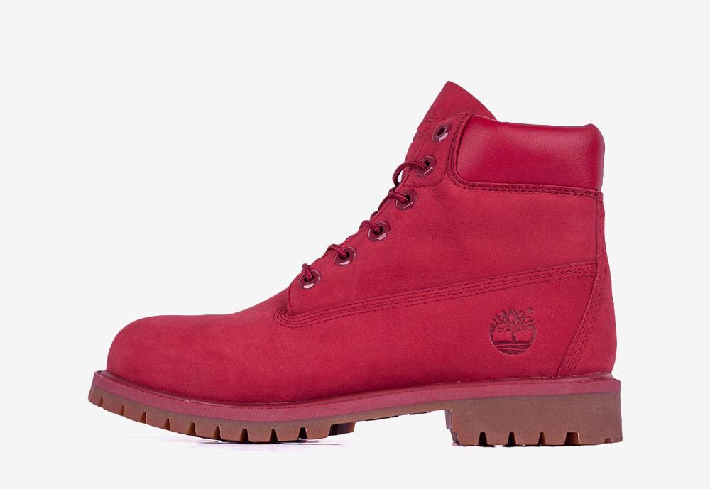 """Timberland 6"""" Premium WP — zimní boty — dámské — červené — boots"""