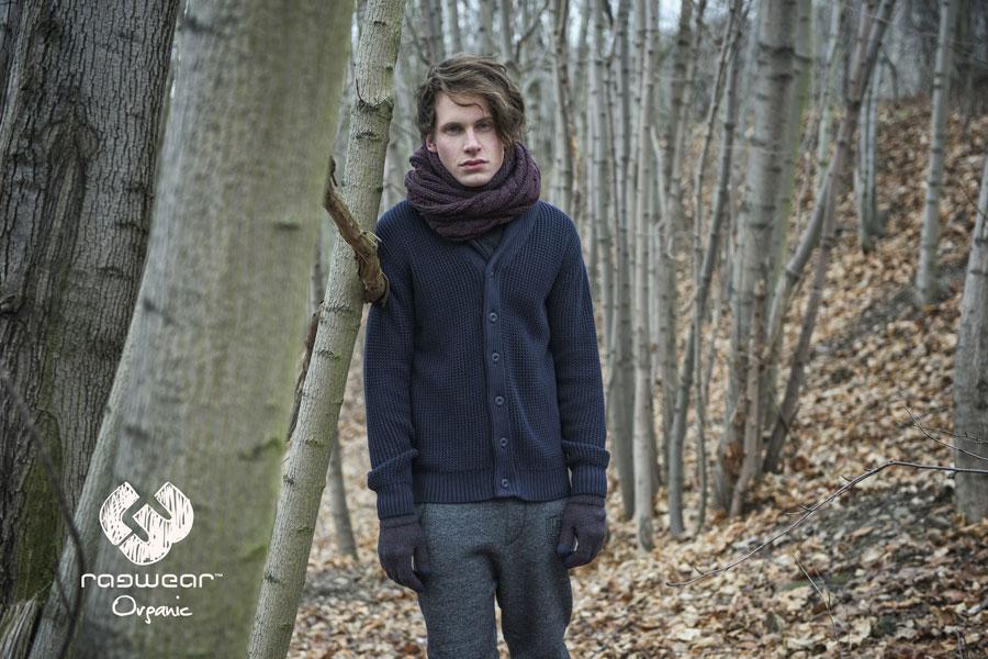Ragwear — pánský svetr s knoflíky — modrý — podzim/zima 2016