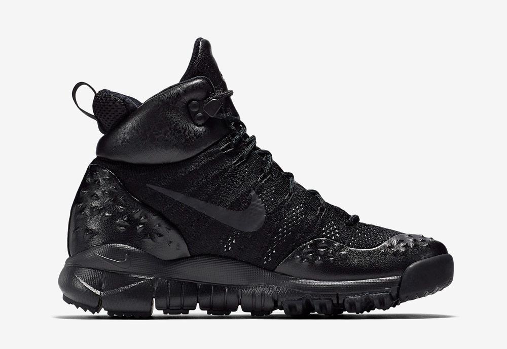 Nike Lupinek Flyknit — zimní boty — kotníkové — sneakers — černé — dámské