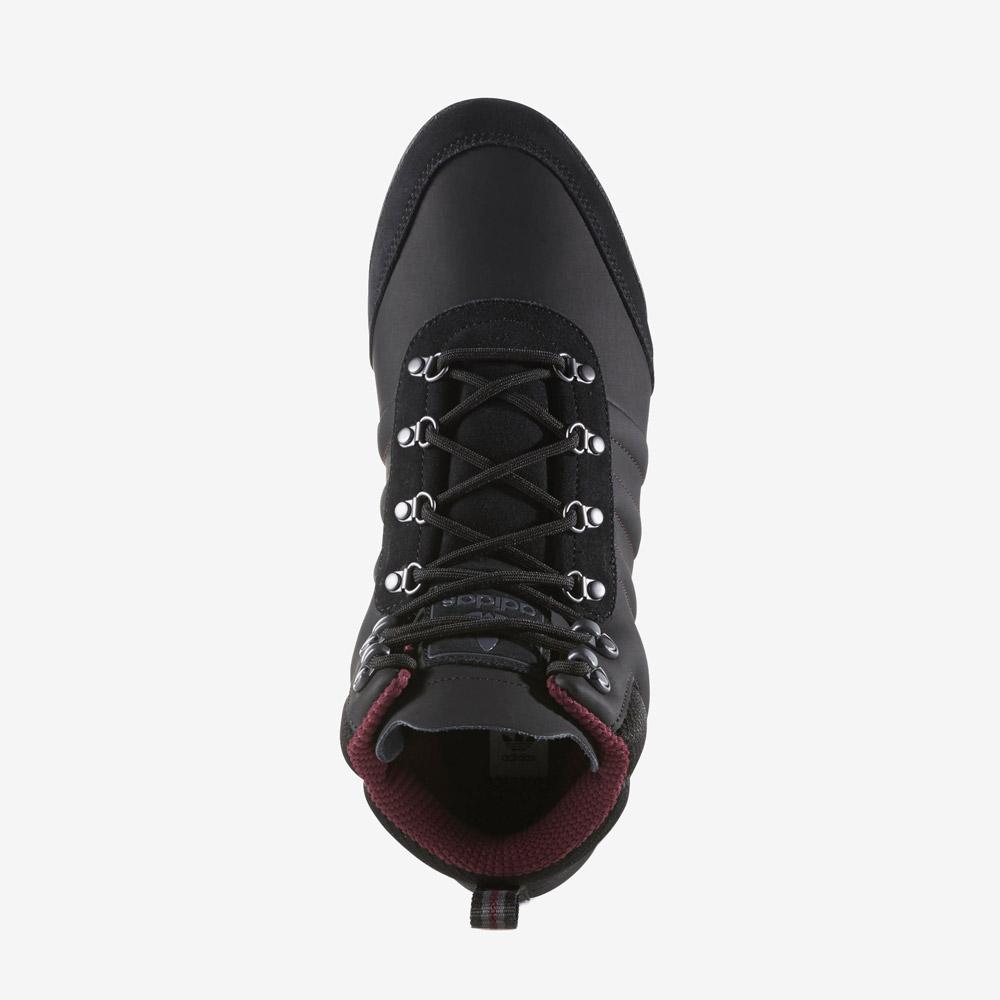 adidas Originals Jake Boot 2.0 — zimní boty — pánské — kotníkové — černé — horní pohled