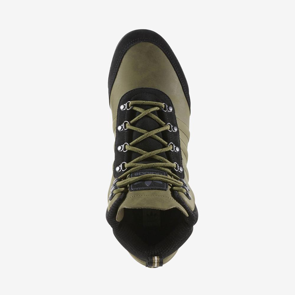 adidas Originals Jake Boot 2.0 — zimní boty — pánské — kotníkové — tmavě zelené, army green — horní pohled
