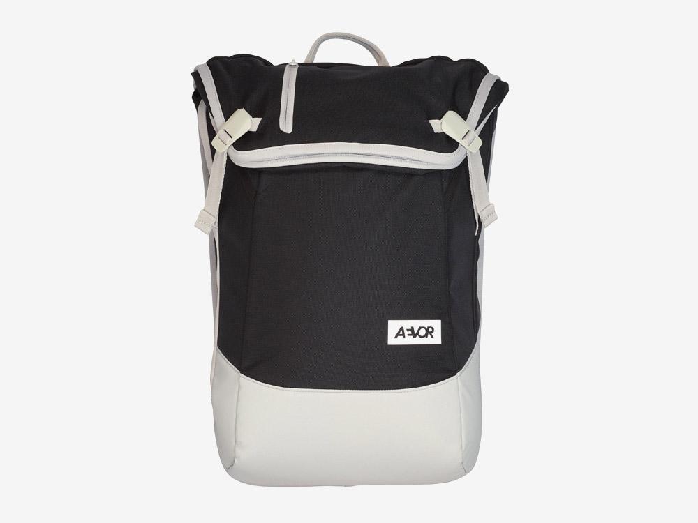 Aevor — Daypack — batoh — městský — školní batoh pro studenty — bílo-černý