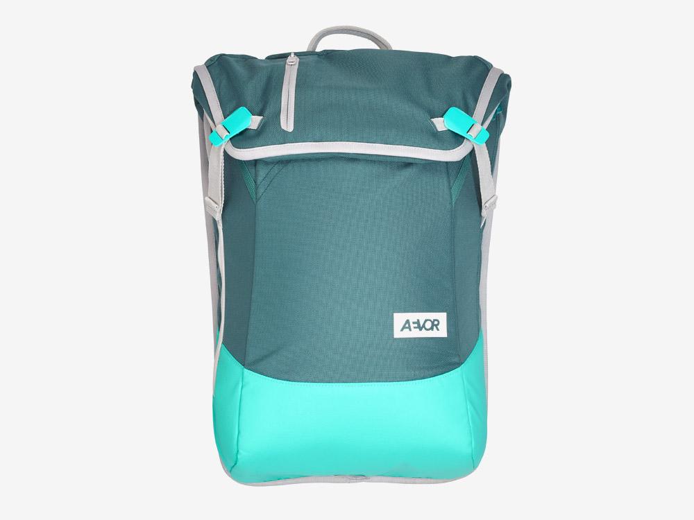 Aevor — Daypack — batoh — městský — školní batoh pro studenty — modro-zelený