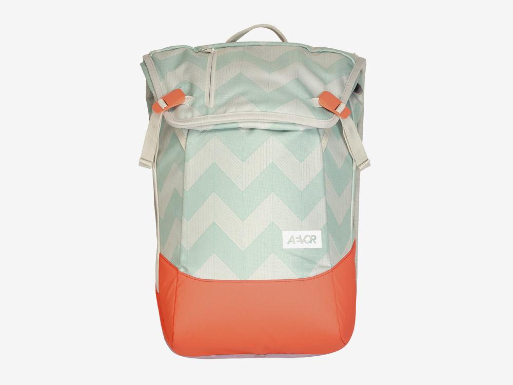 Aevor — Daypack — batoh — městský — školní batoh pro studenty — zeleno-modro-bílý, oranžový