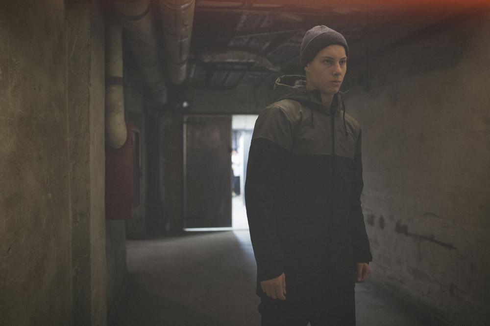 Backyard Cartel — zimní bunda s kapucí — šedo-černá — pánská — podzim/zima 2016
