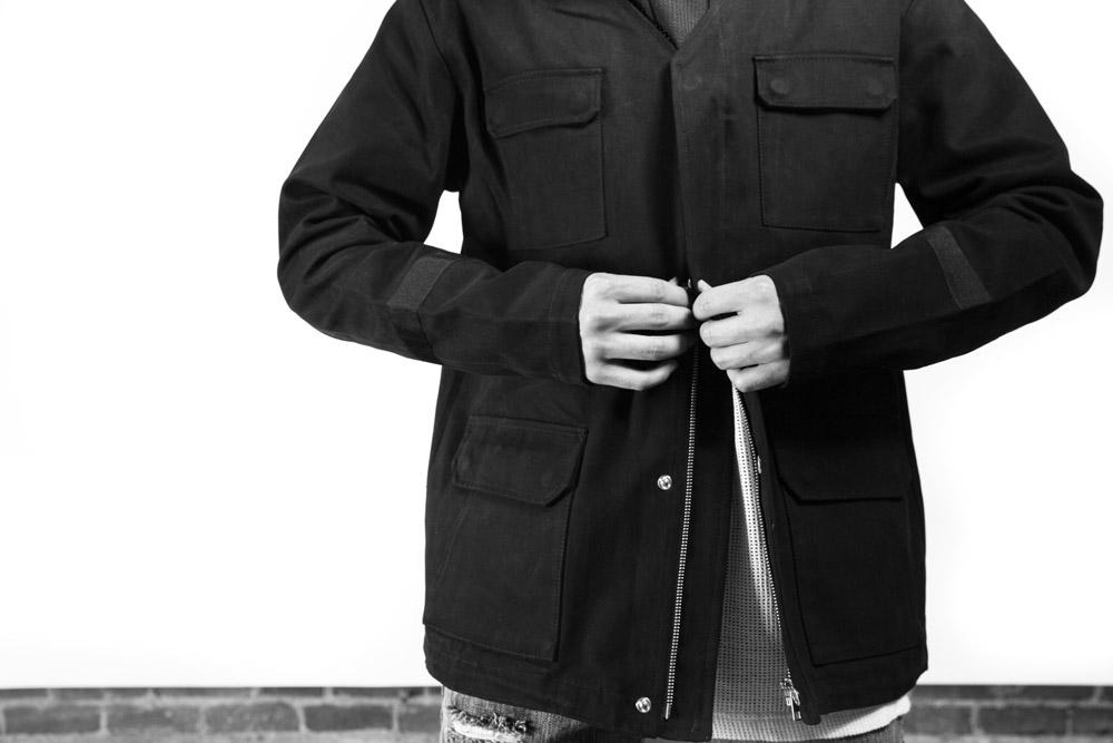Black Scale — pánská černá bunda s kapsami — BLVCK SCVLE — zima 2016