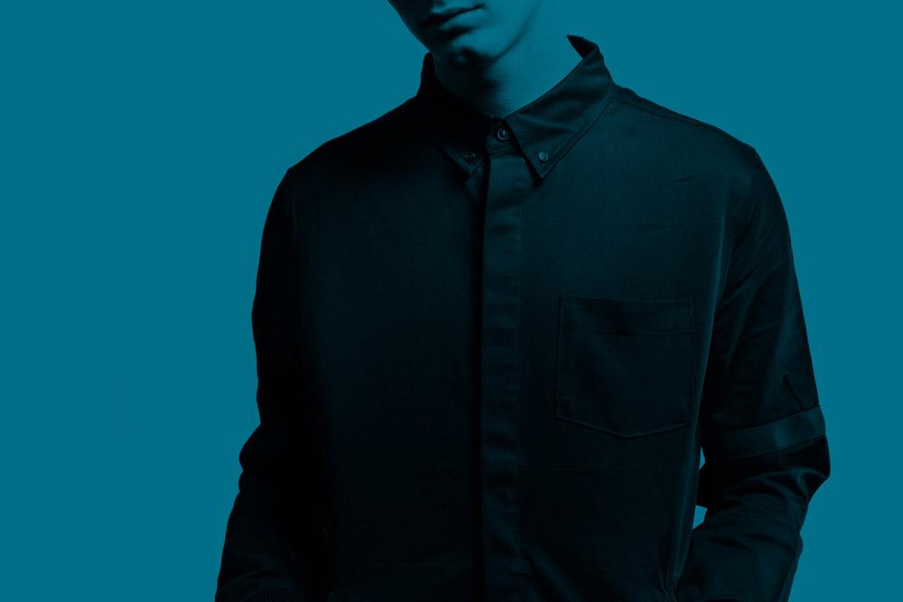 Black Scale — pánská dlouhá košile s límečkem — černá — BLVCK SCVLE — zima 2016