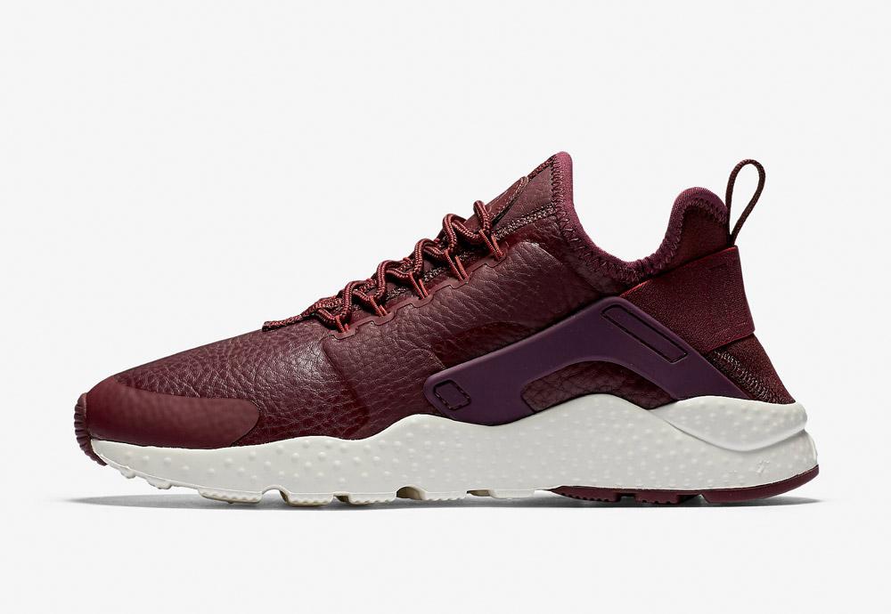 Nike Air Huarache Ultra Premium — dámské boty — tenisky — sneakers — tmavě červené, vínové