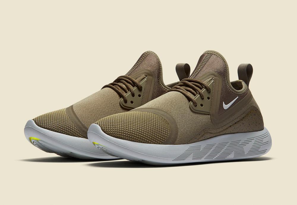 Nike LunarCharge Essential — boty — tenisky — sneakers — sportovní — dámské — zeleno-hnědé, olivové