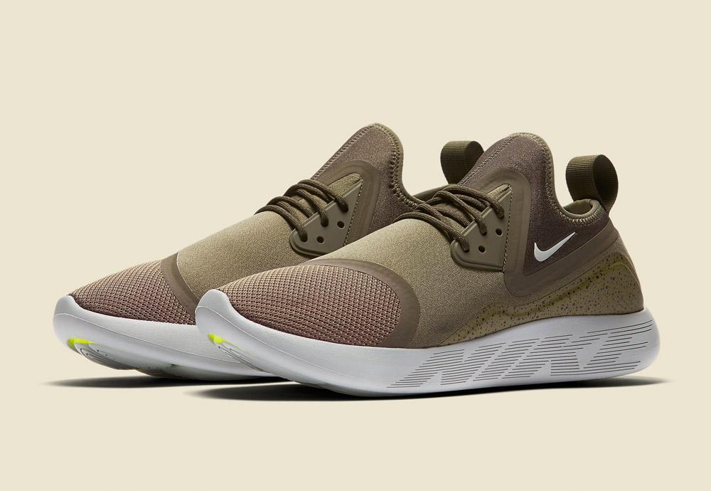 Nike LunarCharge Essential — boty — tenisky — sneakers — sportovní — pánské — zeleno-hnědé, olivové