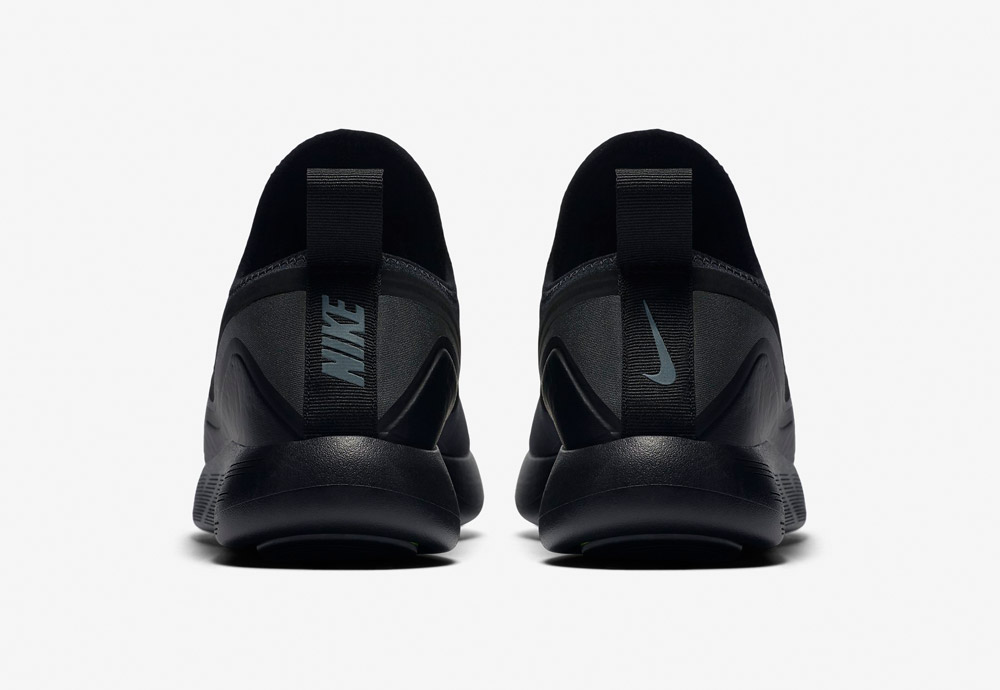 Nike LunarCharge Essential — zadní pohled — tenisky — sneakers — sportovní — pánské — černé